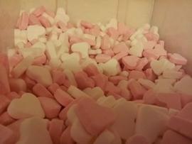Hartjes Roze/Wit (mint)