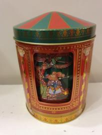Kerstblik Carrousel, bewegende met muziek (klein)