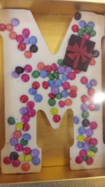 Luxe Chocolade Smartie Letter (Wit)