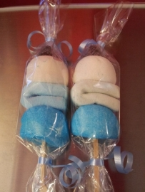 Spek Shaslick (blauw/wit)