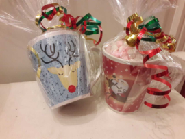 Kerstmok met Chocolademelk stick & Mini Marshmallows
