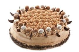 Chocolade Creme Taart (6-100 personen)