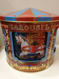 Kerstblik Carrousel, bewegende met muziek (groot)