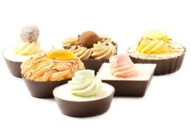 Chocolade Petit Fours (6 stuks)