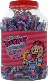 Mr Bubble Aardbei kauwgom lollie