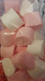 Marshmellow groot (roze/wit)