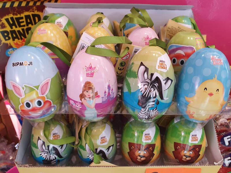 BIP Kids Paasei blik hanger gevuld met chocolademunten