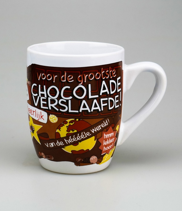 Mok Chocolade verslaafde