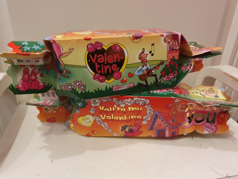 Toffeedoos Valentine (gevuld met Sorini Chocolade)