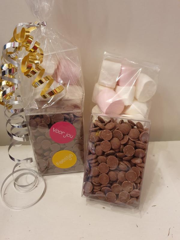 SmeltChocolade & Marshmallows (chocolade-fondue)