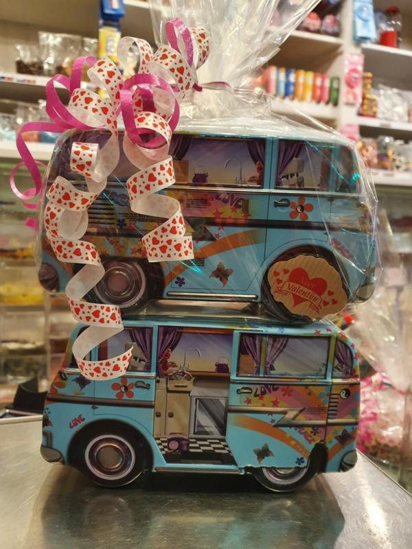 All You Need is Love Camper Blik gevuld met Sorini Chocolade