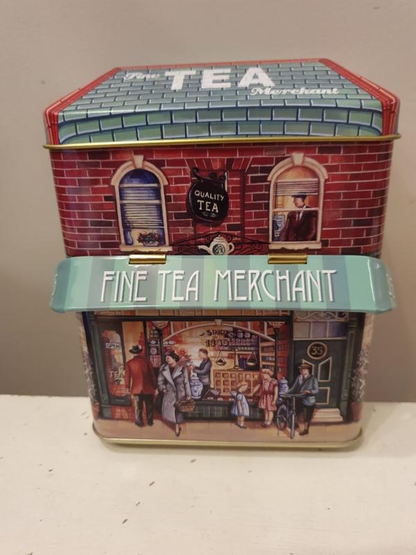 Fine Tea Merchant Blik (klein model)
