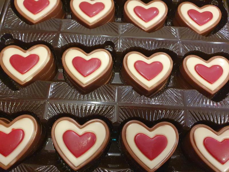 Chocolade Harten (Plat)