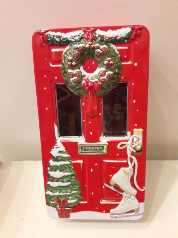 Kerstblik deur rood (groot)