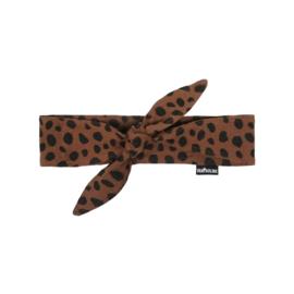 Hair band bow Caramel Dalmatian