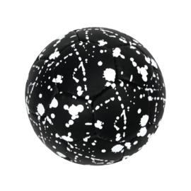 Soccer Ball Black Splatter