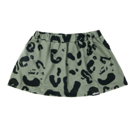 Leopard Skirt Green