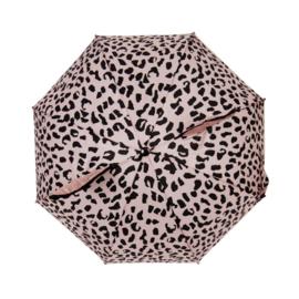Umbrella Pink Leopard met Naam