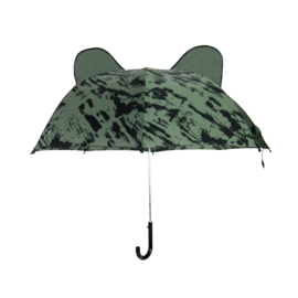 Umbrella Bear Green Distress