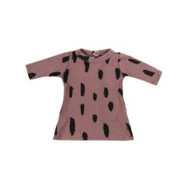 Poppenjurkje + broekje Dark Pink Stripes