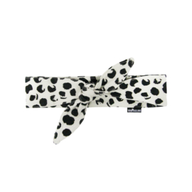 Hair band bow Ecru Dots