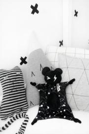Knuffeldoekje Bear Zwart met Naam
