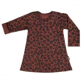 Dress Red Leopard Long