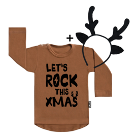 Let's Rock Xmas + Deer Headband