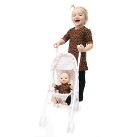 Doll Stroller White Dots