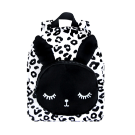 Small Bunny Backpack White Leopard