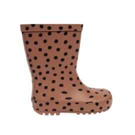 Rainboots BrownPink Dots (sale)