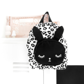 Bunny Backpack White Leopard