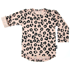 Leopard Tee Pink Long