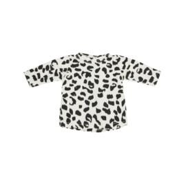 Poppenshirtje Ecru Leopard