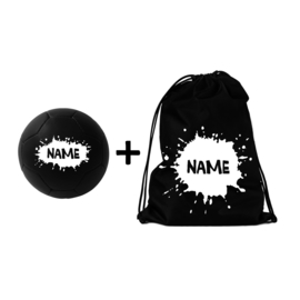Soccer Ball + Backpack Splatter Name