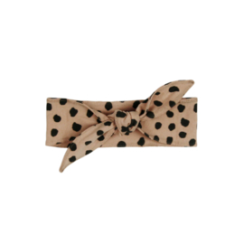 Hair band Bow Nude Black Dots AW21