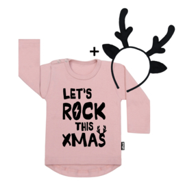 Let's Rock Xmas + Deer Headband