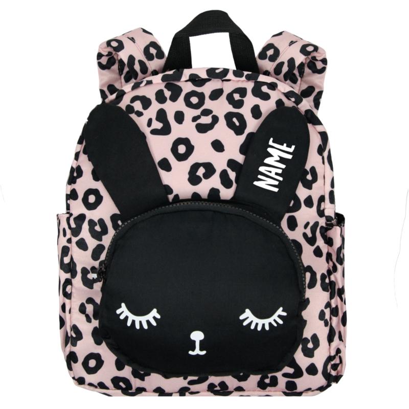 Backpack Bunny Pink Leopard Big Name