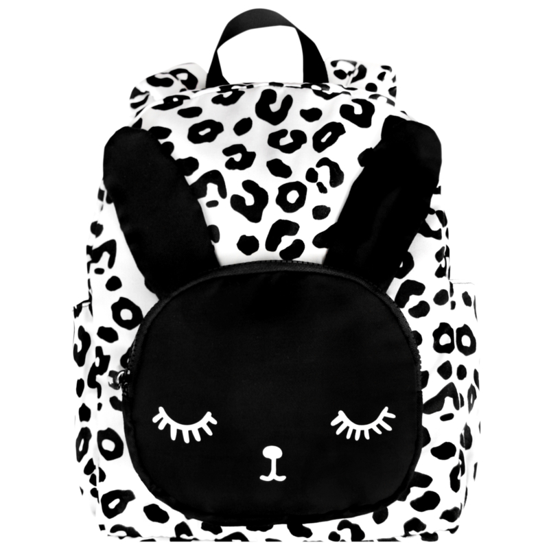 Bunny Backpack White Leopard Big