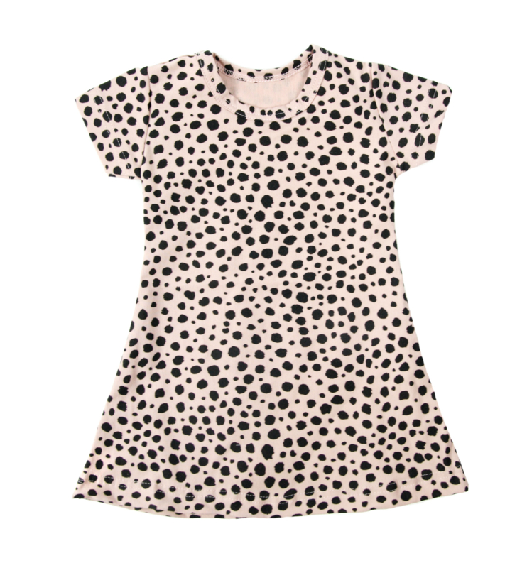 Dress Blush Pink Dots Short