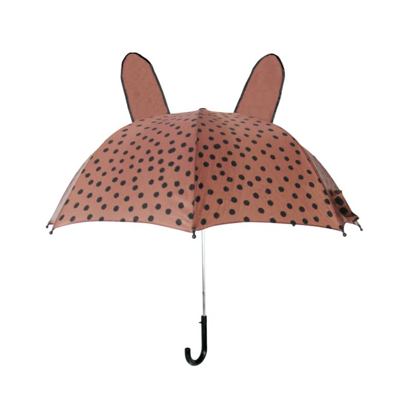 Umbrella BrownPink Dots