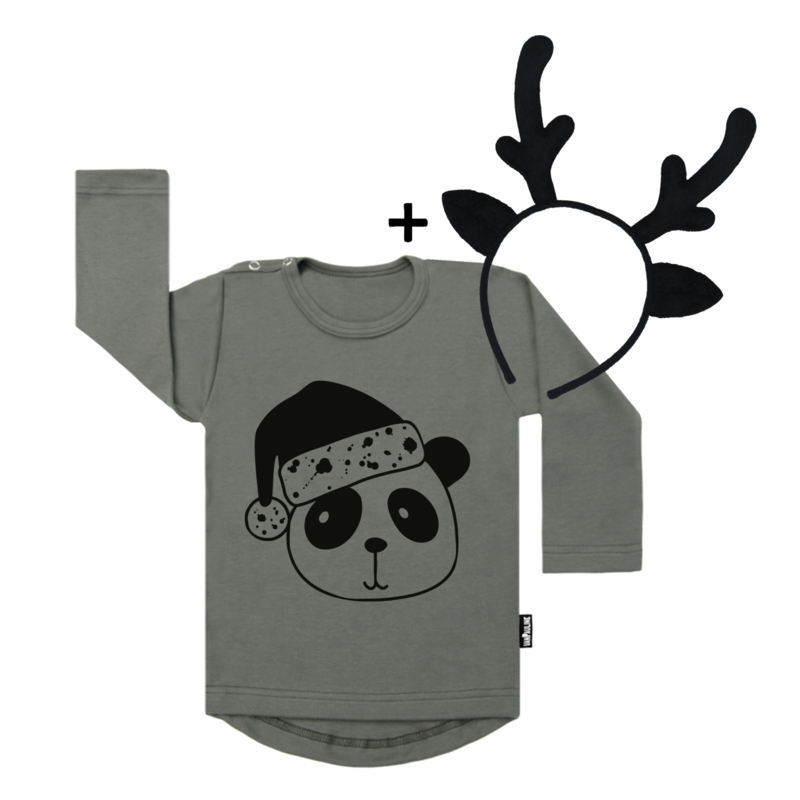 Panda xmasbear + Deer Headband