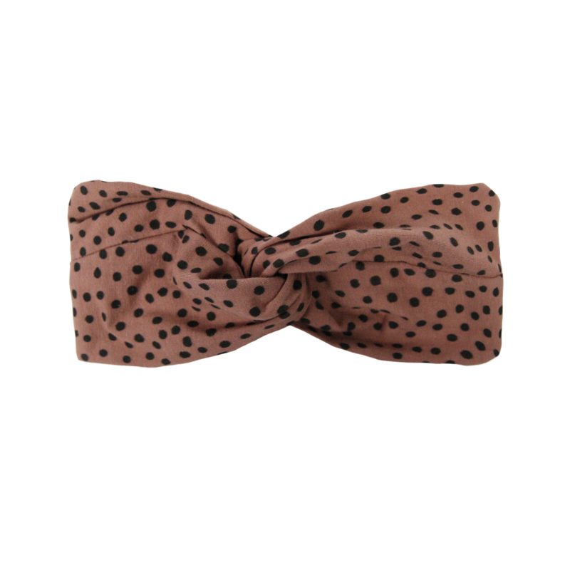 Haarband Twisted Warm Pink Dots