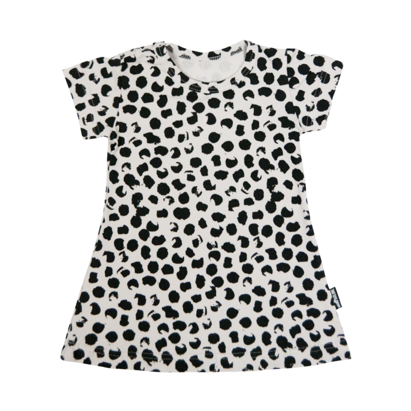 Dress Ecru Big Dots Short SS20