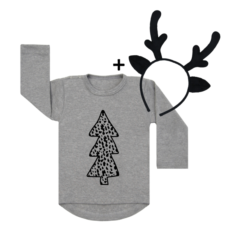 Dots Tree + Deer Headband