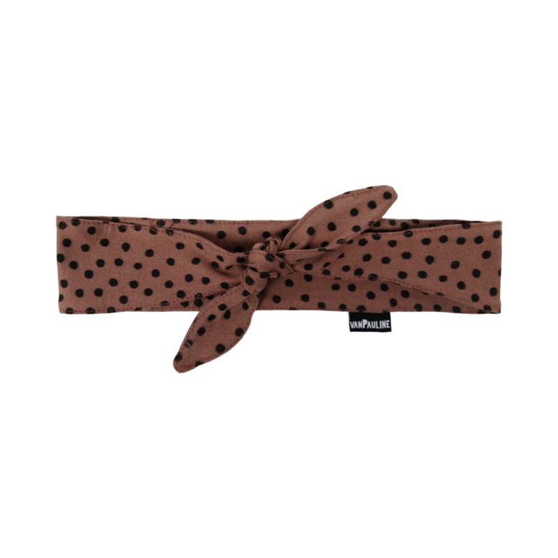 Haarband Strik Warm Pink Dots