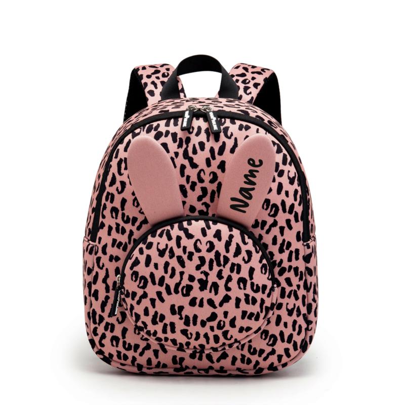 Backpack Bunny Pink Leopard met naam