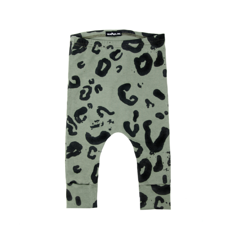 Leopard Pants Green