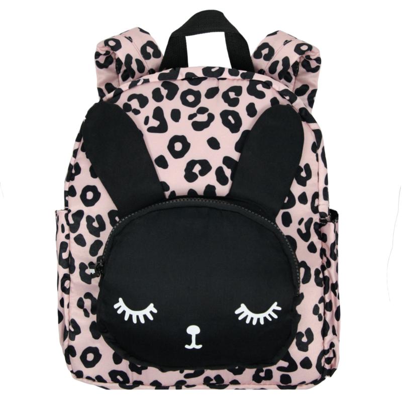 Backpack Bunny Pink Leopard Big
