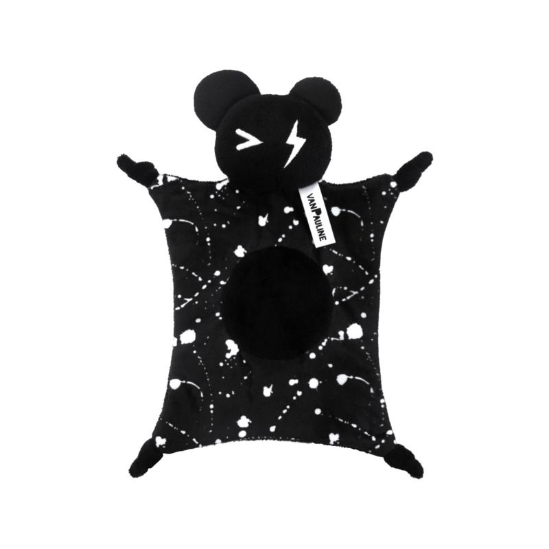Knuffeldoekje Bear Zwart